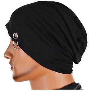 Beanie Cap with Ring Black Color for Men and Women