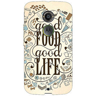 EYP Good Food Quote Back Cover Case For Moto X (2nd Gen) 231226