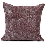CHAAND - Full Sequins Onion Pink Colour Cushion Cover - Set Of 2