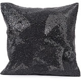 CHAAND - Full Sequins Black Cushion Cover - Set Of 2