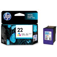 HP 22 Tri-color Inkjet Print Cartridge (HP Part Code C9352AA)