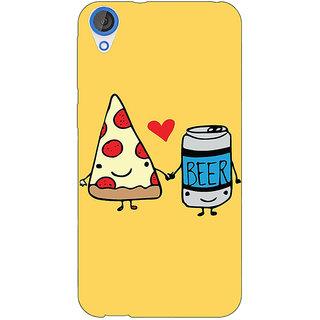 EYP Pizza Loves Beer Back Cover Case For HTC Desire 820 281141