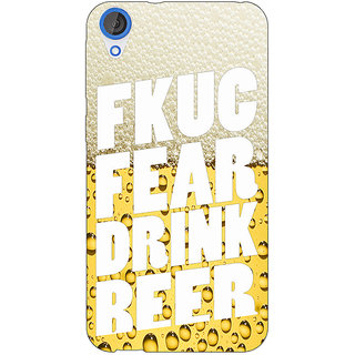 EYP Beer Quote Back Cover Case For HTC Desire 820Q 291229