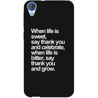 EYP Quote Back Cover Case For HTC Desire 820 281473