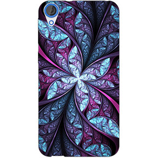 EYP Abstract Flower Pattern Back Cover Case For HTC Desire 820Q 291520