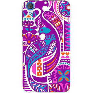 EYP Paisley Beautiful Peacock Back Cover Case For HTC Desire 820Q 291580
