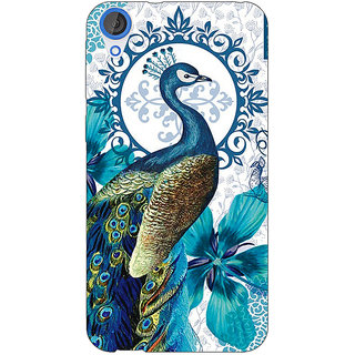 EYP Paisley Beautiful Peacock Back Cover Case For HTC Desire 820Q 291582