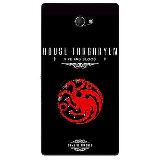 EYP Game Of Thrones GOT House Targaryen  Back Cover Case For Sony Xperia M2 310144