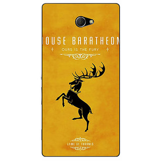 EYP Game Of Thrones GOT House Baratheon  Back Cover Case For Sony Xperia M2 310172