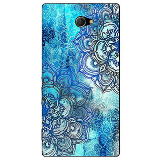 EYP Blue Floral Doodle Pattern Back Cover Case For Sony Xperia M2 310211
