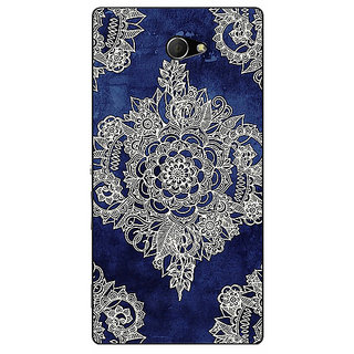 EYP Vintage Luxury Pattern Back Cover Case For Sony Xperia M2 310227