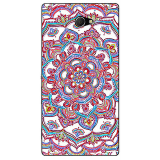 EYP Flower Circles Pattern Back Cover Case For Sony Xperia M2 310230