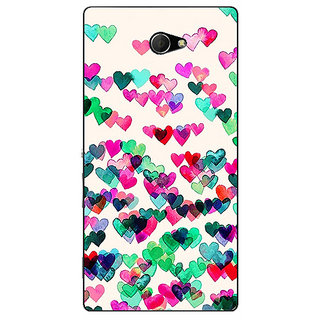 EYP Hearts in the Air Pattern Back Cover Case For Sony Xperia M2 310233