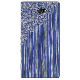 EYP Beauty Curtains Pattern Back Cover Case For Sony Xperia M2 310239