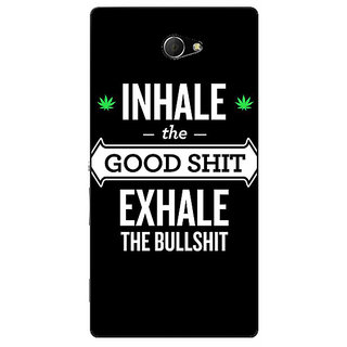 EYP Weed Quotes Back Cover Case For Sony Xperia M2 310500