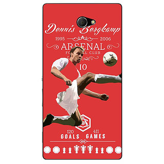 EYP Arsenal Dennis Bergkamp Back Cover Case For Sony Xperia M2 310501