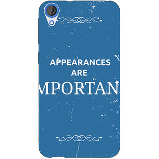 EYP SUITS Quotes Back Cover Case For HTC Desire 820 Dual Sim 300480