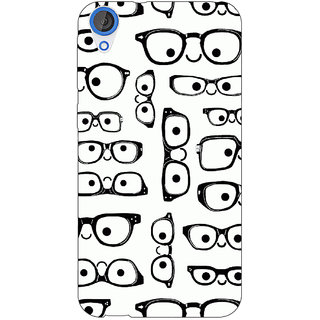 EYP Glasses Pattern Back Cover Case For HTC Desire 820 Dual Sim 301379