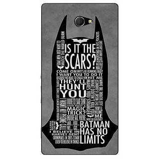 EYP Superheroes Batman Dark knight Back Cover Case For Sony Xperia M2 310001