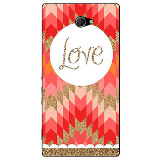 EYP Love Back Cover Case For Sony Xperia M2 310096