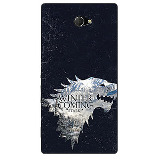 EYP Game Of Thrones GOT House Stark  Back Cover Case For Sony Xperia M2 Dual 320131