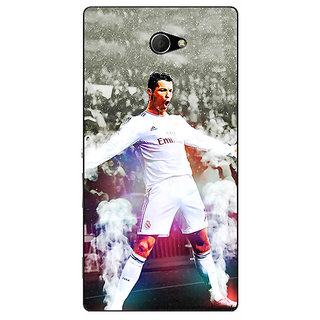 EYP Cristiano Ronaldo Real Madrid Back Cover Case For Sony Xperia M2 310305