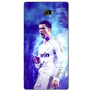 EYP Cristiano Ronaldo Real Madrid Back Cover Case For Sony Xperia M2 310308