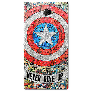 EYP Superheroes Captain America Back Cover Case For Sony Xperia M2 310334