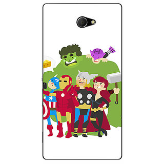 EYP Superheroes Baby Avengers Back Cover Case For Sony Xperia M2 310337