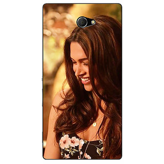 EYP Bollywood Superstar Deepika Padukone Back Cover Case For Sony Xperia M2 311032
