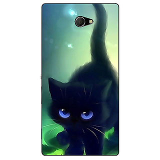 EYP Cute Black Kitten Back Cover Case For Sony Xperia M2 311138