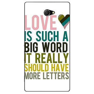 EYP Quotes Love Back Cover Case For Sony Xperia M2 311152
