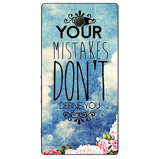 EYP Quotes Mistakes Back Cover Case For Sony Xperia M2 311165