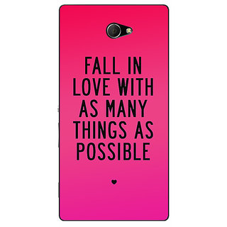 EYP Quotes Love Back Cover Case For Sony Xperia M2 311169