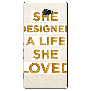EYP Quotes Beautiful Back Cover Case For Sony Xperia M2 311190