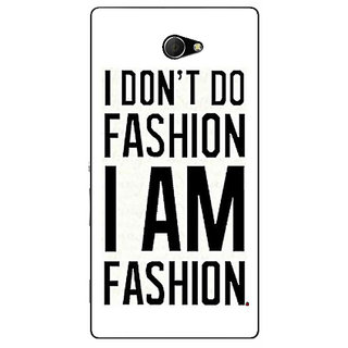 EYP Fashion Quote Back Cover Case For Sony Xperia M2 311428
