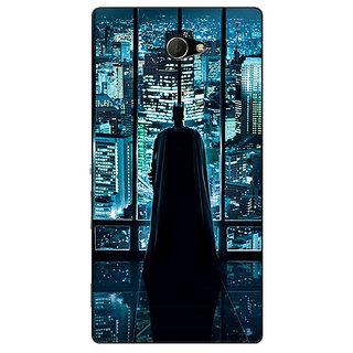 EYP Superheroes Batman Dark knight Back Cover Case For Sony Xperia M2 Dual 320002