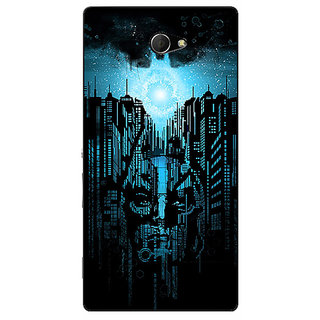EYP Superheroes Batman Dark knight Back Cover Case For Sony Xperia M2 Dual 320014