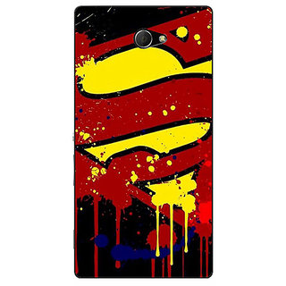 EYP Superheroes Superman Back Cover Case For Sony Xperia M2 Dual 320034