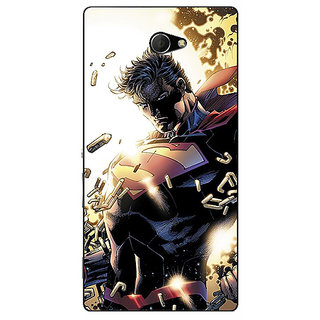 EYP Superheroes Superman Back Cover Case For Sony Xperia M2 Dual 320039