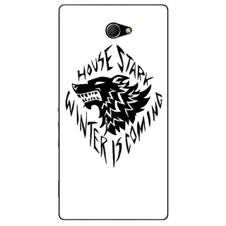 EYP Game Of Thrones GOT House Stark  Back Cover Case For Sony Xperia M2 310127