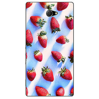 EYP StrawberryPattern Back Cover Case For Sony Xperia M2 Dual 320202