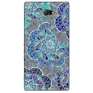 EYP Floral Craze Pattern Back Cover Case For Sony Xperia M2 Dual 320260