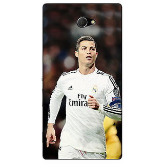 EYP Cristiano Ronaldo Real Madrid Back Cover Case For Sony Xperia M2 Dual 320309