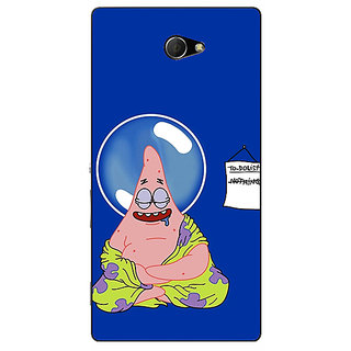 EYP Spongebob Patrick Back Cover Case For Sony Xperia M2 Dual 320472