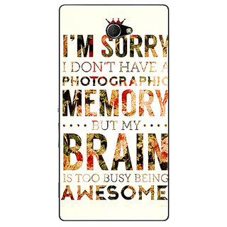 EYP SUITS Quotes Back Cover Case For Sony Xperia M2 Dual 320481
