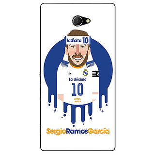 EYP Real Madrid Sergio Ramos Back Cover Case For Sony Xperia M2 Dual 320587