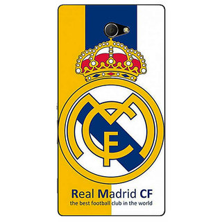 EYP Real Madrid Back Cover Case For Sony Xperia M2 Dual 320591