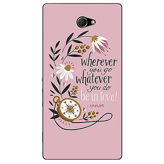 EYP Quotes Pink Back Cover Case For Sony Xperia M2 Dual 321135