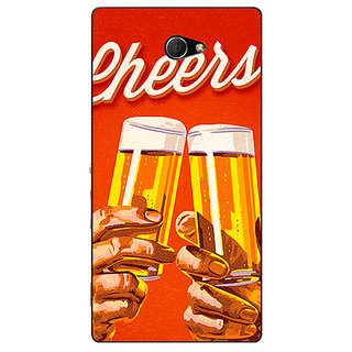 EYP Beer Quote Cheers Back Cover Case For Sony Xperia M2 311252